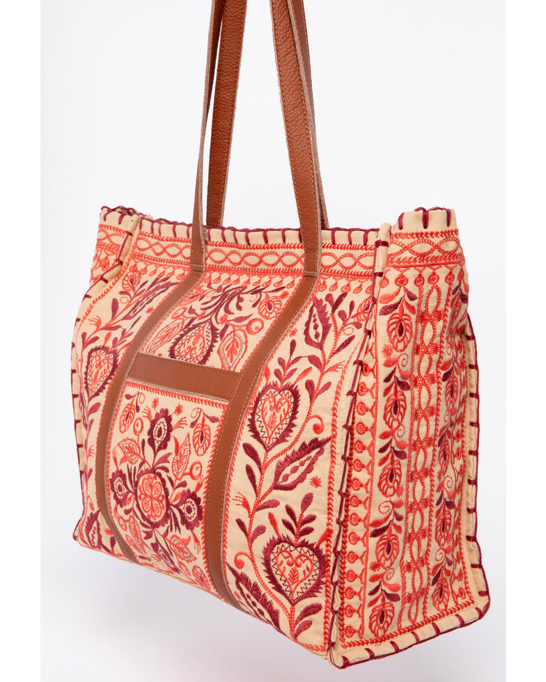 Johnny Was Oranda Market Tote , Beige/khaki, hi-res