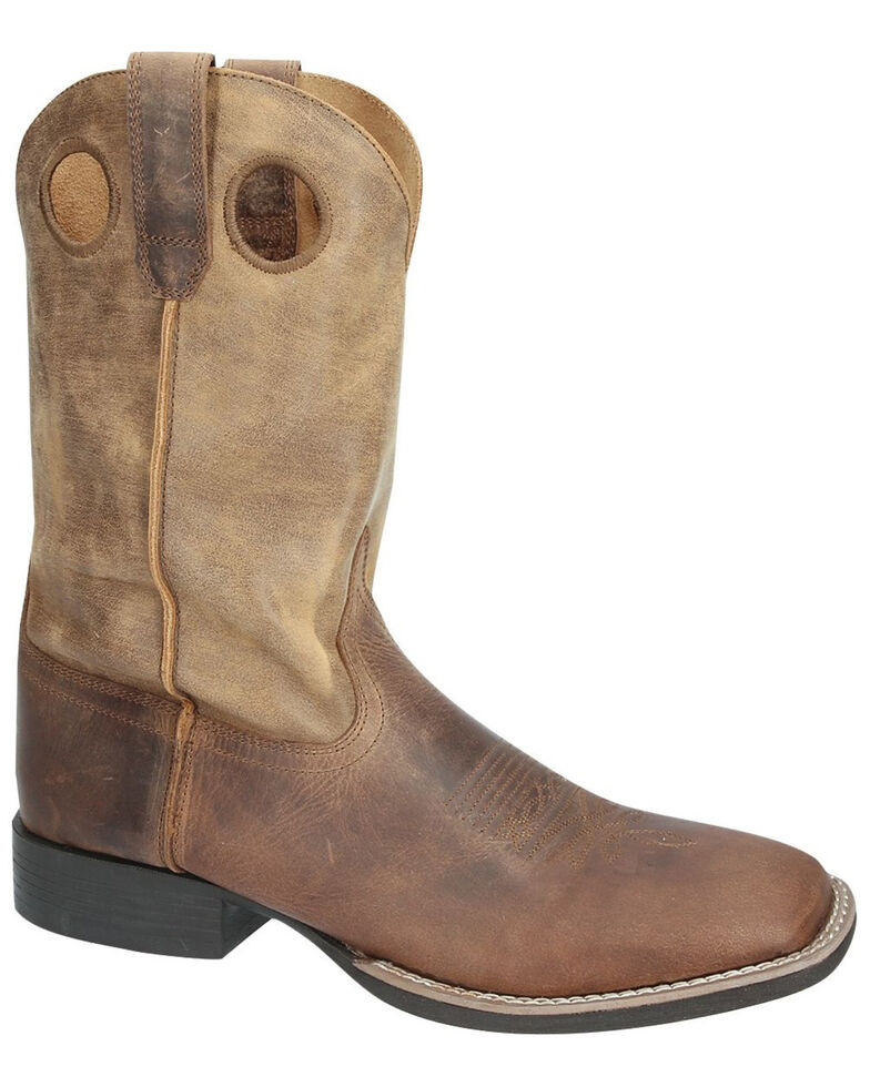 Smoky Mountain Men's Waylon Western Boots - Square Toe, Brown, hi-res