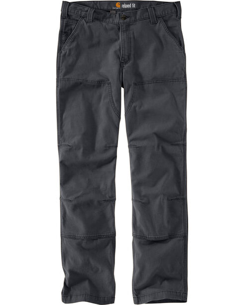 Carhartt Men's Rugged Flex Rigby Double-Front Pants - Straight Leg, Dark Grey, hi-res