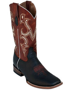 Ferrini Men's Colby Western Boots - Square Toe, Black, hi-res