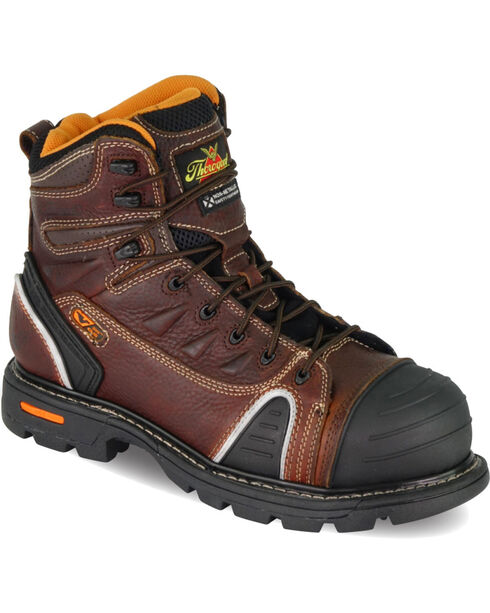 "Thorogood Men's GenFlex2 6"" Lace To Toe Work Boots - Composite Toe, Brown, hi-res"