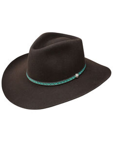 Resistol Men's 3X Channing Western Felt Hat , Burgundy, hi-res