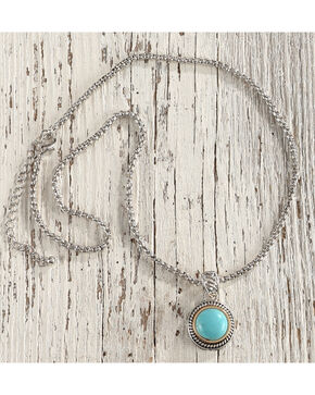 Shyanne Women's Turquoise Stone Necklace, Silver, hi-res