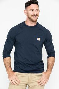 Carhartt Force Long Sleeve Work Shirt, Navy, hi-res