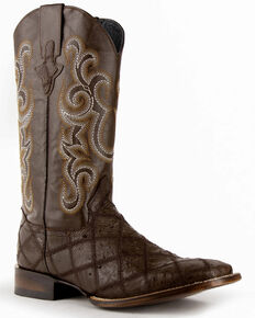 Ferrini Men's Pinto Western Boots - Wide Square Toe, Chocolate, hi-res