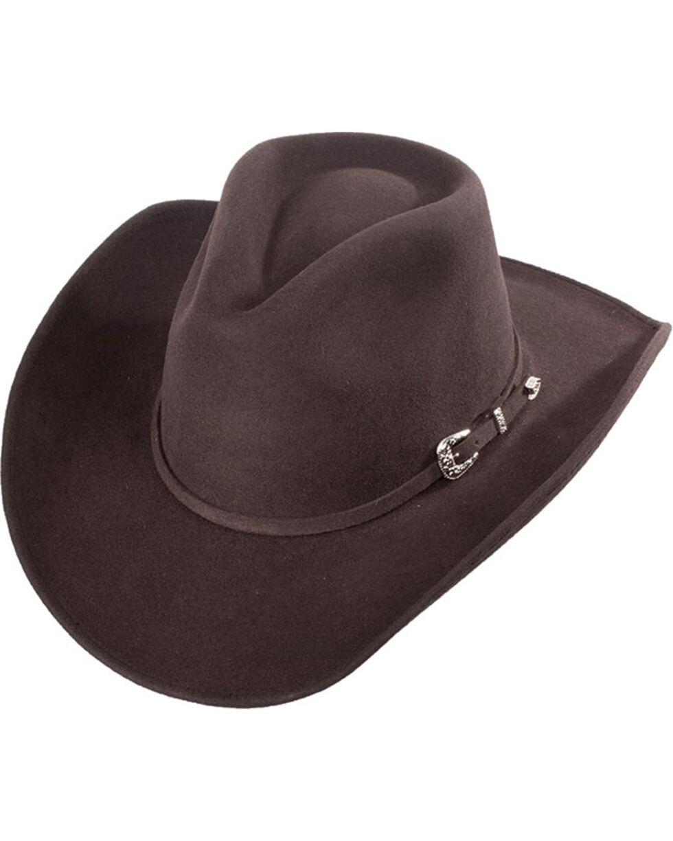 Western Express Men's Brownsville Brown Crushable Wool Felt Hat, Brown, hi-res