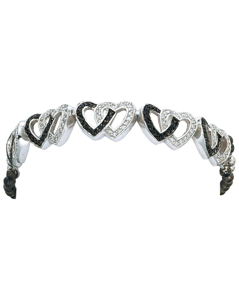Montana Silversmiths Double Heart Bracelet, Silver, hi-res