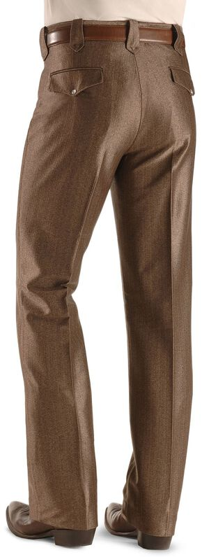Circle S Boise Snap Dress Slacks, Brown, hi-res