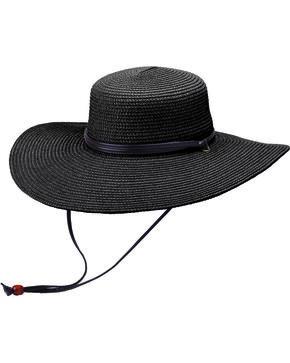 "Peter Grimm Coralia 4 1/2"" Black Sun Hat, Black, hi-res"