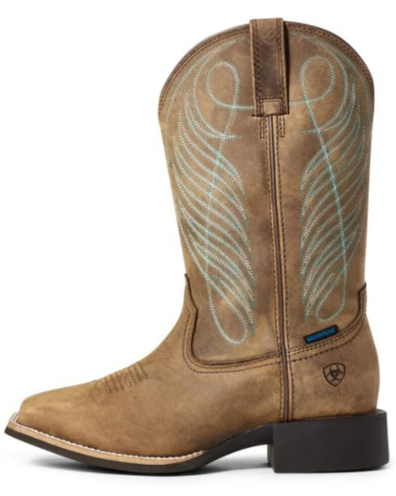 Ariat Women's Round-Up Western Boots - Square Toe, Brown, hi-res