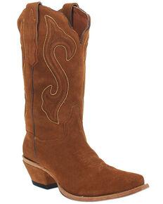 Dan Post Women's Cognac Suede Western Boots - Snip Toe, Cognac, hi-res