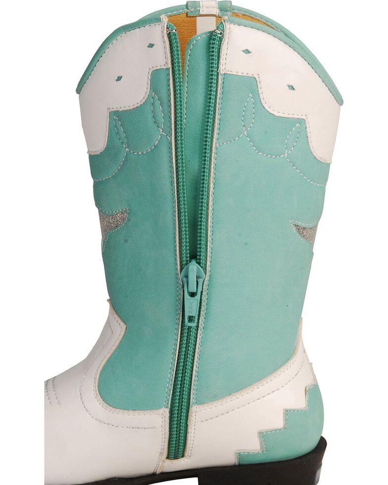 Smoky Mountain Children's Austin Lights w/Stars Cowgirl Boots, White, hi-res