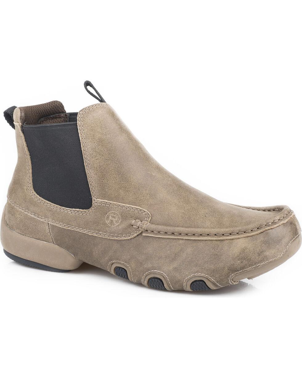 Roper Men's Brown Romeo Cruiser Casual Driving Moc Boots - Round Toe , Brown, hi-res