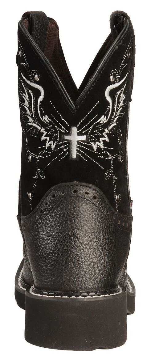 Justin Gypsy Black Wing Stitched Cowgirl Boots - Square Toe, Black, hi-res