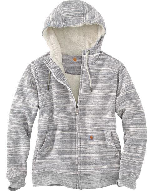 carhartt women's grey clarksburg sherpa lined hoodie