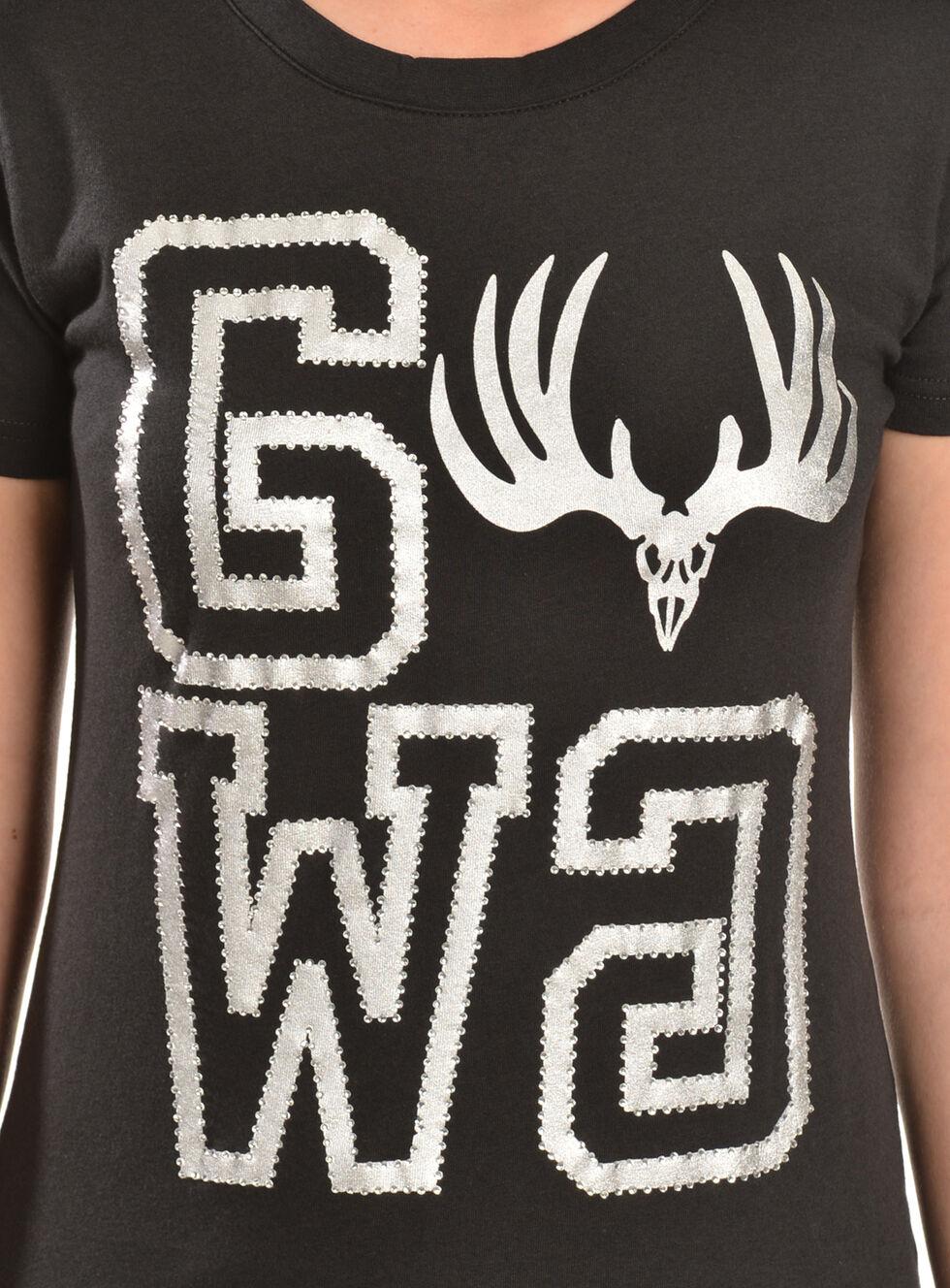 Girls With Guns GWG Buck Tee Squared T-Shirt, Black, hi-res