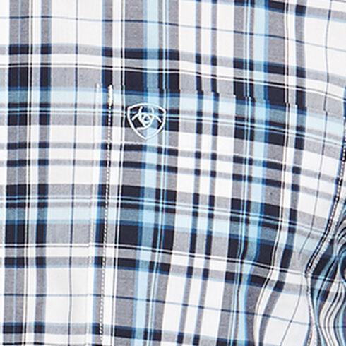 Ariat Men's Navy Morse Long Sleeve Shirt - Big and Tall , Navy, hi-res