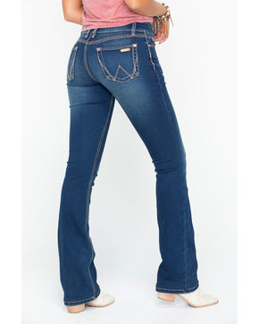 Wrangler Women's Indigo Retro Mae Simple Pocket Jeans - Boot Cut , Indigo, hi-res