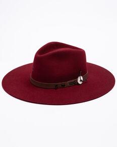 Charlie 1 Horse Women's Burgundy Tee Pee Western Wool Hat  , Burgundy, hi-res