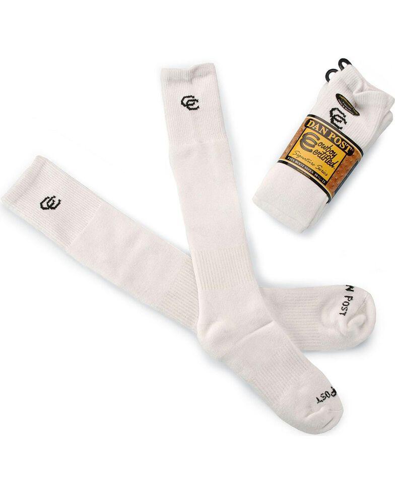 Dan Post Men's Cowboy Certified Boot Socks (2-Pack), White, hi-res