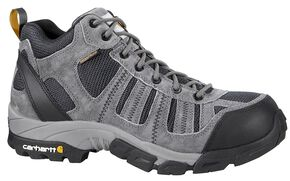 Carhartt Lightweight Waterproof Hiking Boots - Round Toe, Grey, hi-res