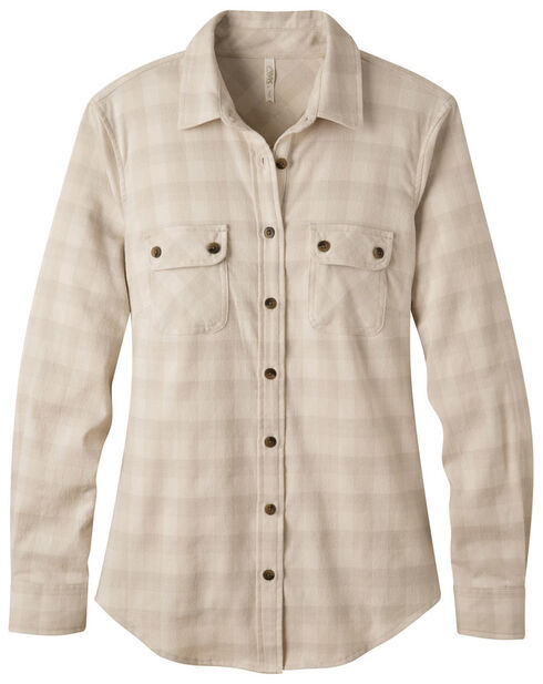 Mountain Khakis Women's Cream Peaks Flannel Shirt , Cream, hi-res