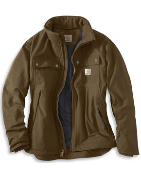 Carhartt Quick Duck Jefferson Traditional Jacket - Big and Tall, Brown, hi-res