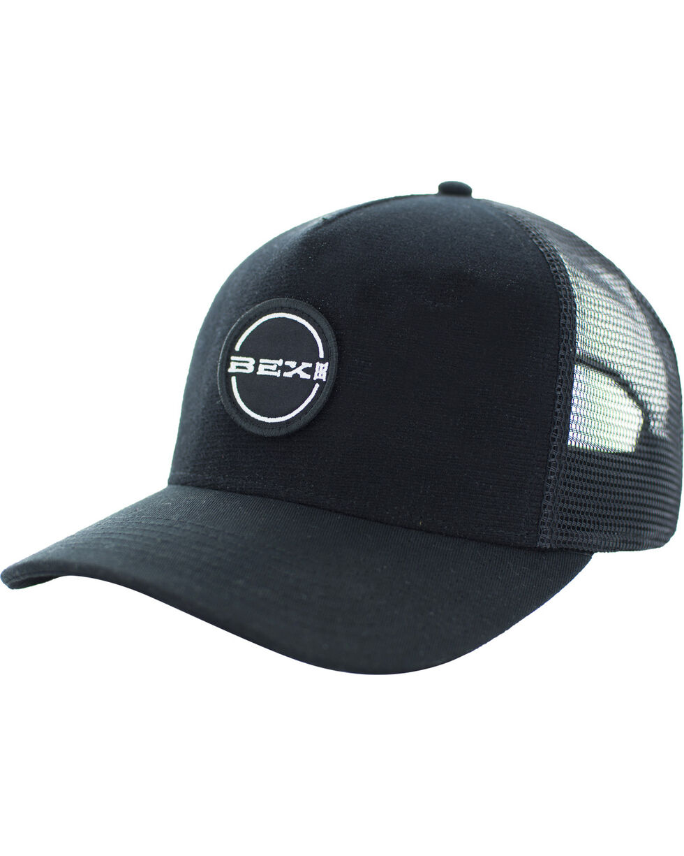 BEX Men's Sherk Velcro Logo Patch Cap, Black, hi-res