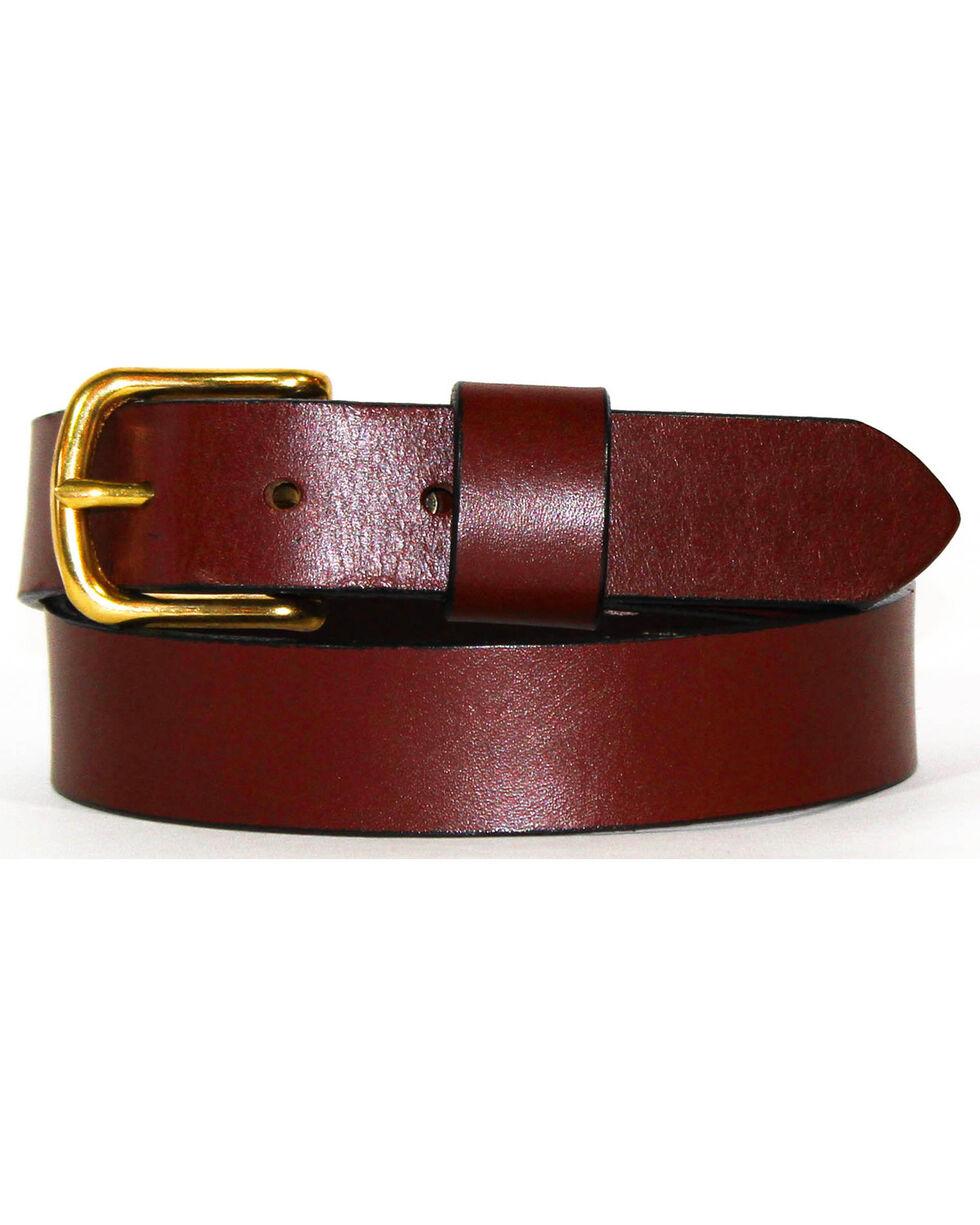 SouthLife Supply Men's Cash Leather Belt , Chocolate, hi-res
