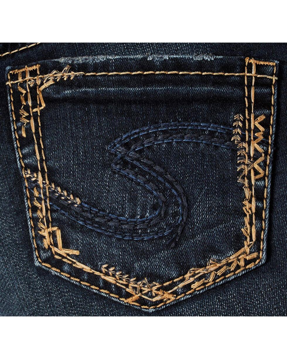 Silver Women's Elyse Dark Wash Slim Boot Cut Jeans, Blue, hi-res