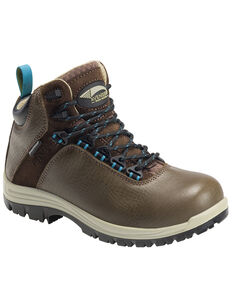 Avenger Women's Breaker Work Boots - Composite Toe, Dark Brown, hi-res