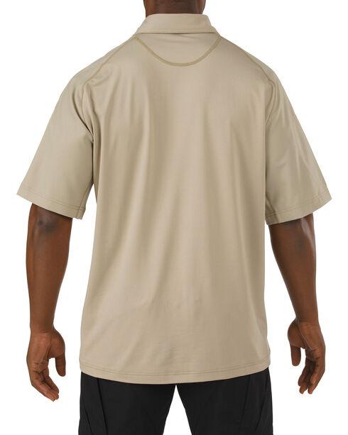 5.11 Tactical Rapid Performance Short Sleeve Polo Shirt, Tan, hi-res