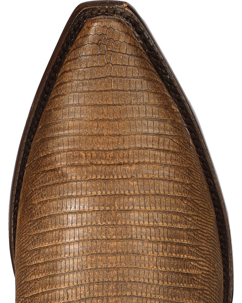 El Dorado Men's Handmade Lizard Tobacco Cowboy Boots - Snip Toe , Brown, hi-res