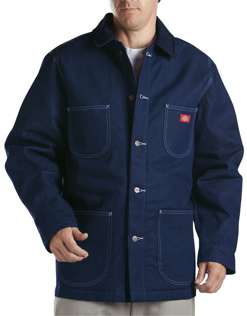 Dickies Blanket Lined Denim Chore Coat - Big & Tall, Blue, hi-res
