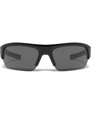 Under Armour Men's Black UA Big Shot Storm Polarized Sunglasses , Black, hi-res