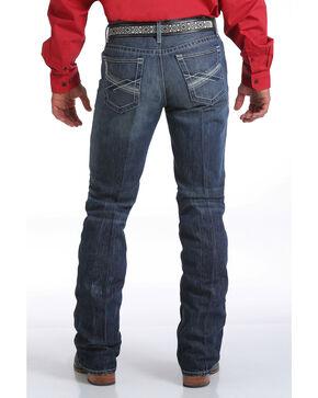 Cinch Men's Ian Dark Stonewash Slim Fit Jeans - Boot Cut, Indigo, hi-res