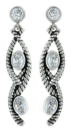 Montana Silversmiths Women's Skipping Along Earrings, Silver, hi-res