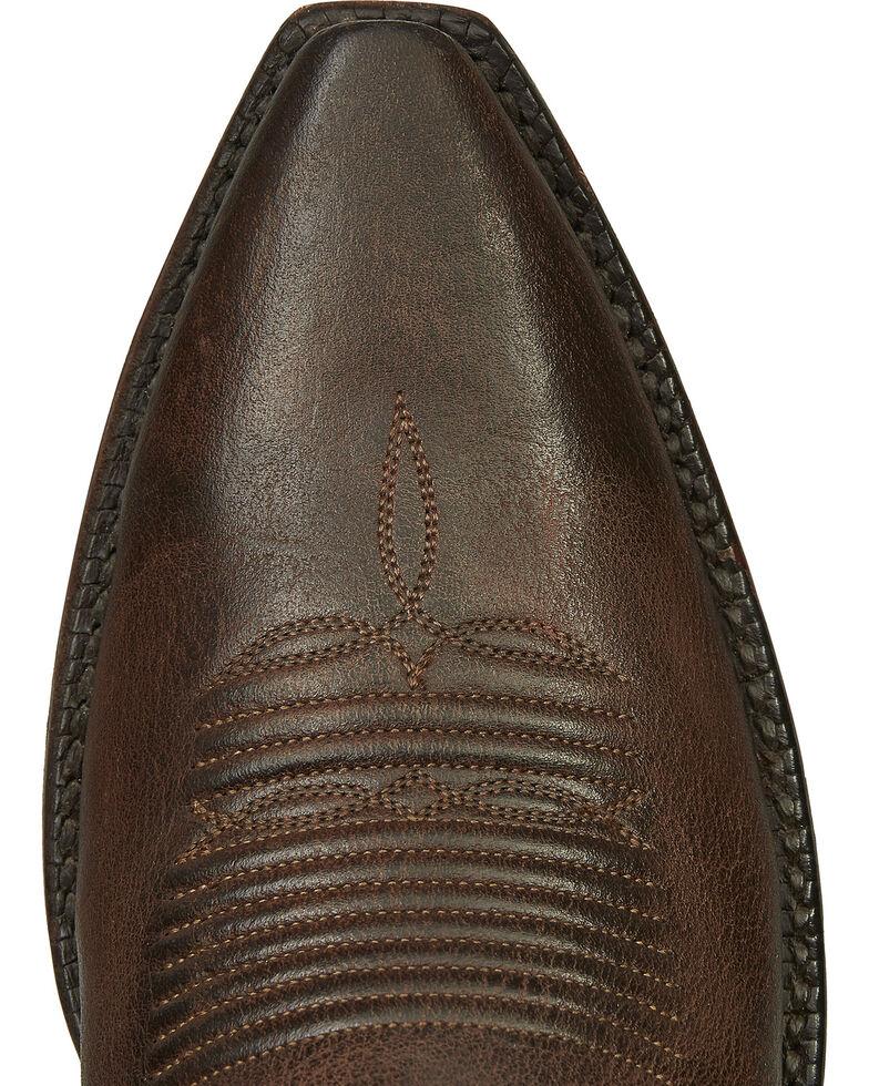 Lucchese Handmade Brown Danielle Goatskin Tall Cowgirl Boots - Snip Toe , Dark Brown, hi-res