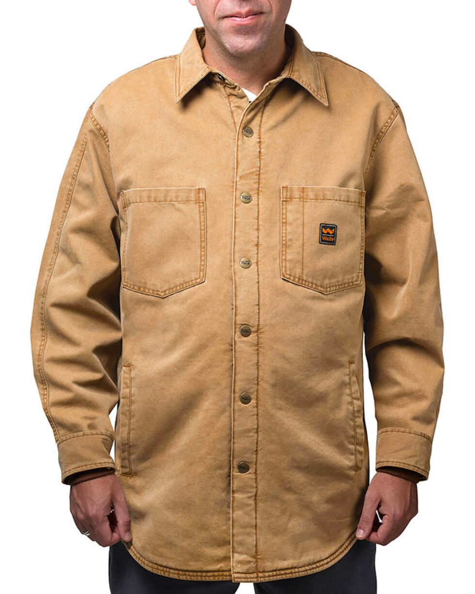 Walls Men's Vintage Fleece Lined Shirt Jacket - Tall, Pecan, hi-res