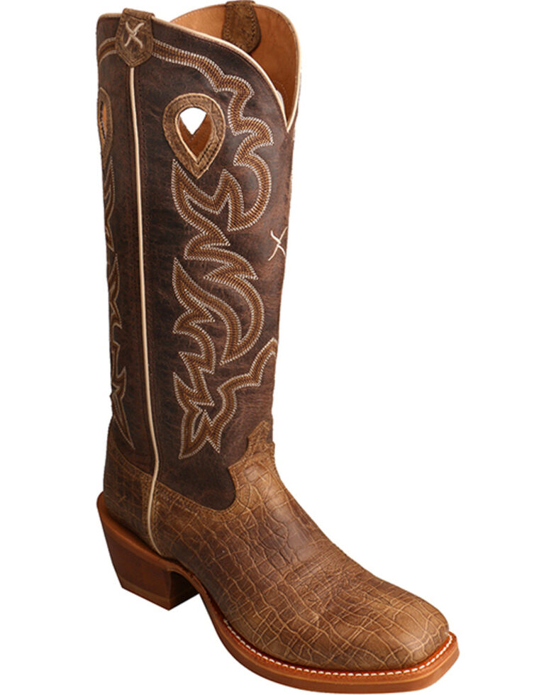 3fbcb4e5c5d Twisted X Men's Brown Buckaroo Cowboy Boots - Square Toe