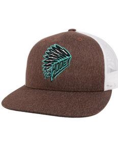 HOOey Men's Quanah Soft Mesh Back Trucker Ball Cap  , Brown, hi-res