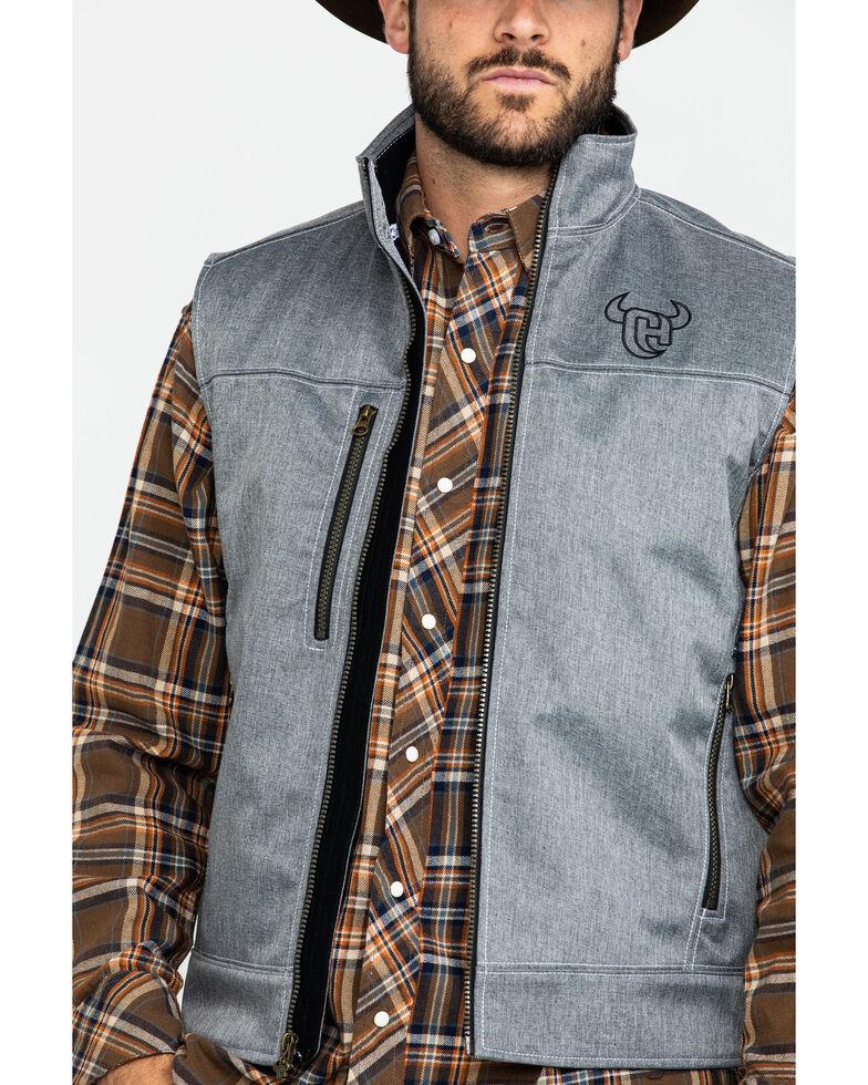 Cowboy Hardware Men's Tech Woodsman Vest , Heather Grey, hi-res