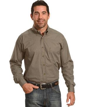 Tuf Cooper Men's Brown Stretch Shirt , Brown, hi-res
