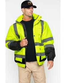 Hawx® Men's 3-In-1 Bomber Reflective Work Jacket , Yellow, hi-res