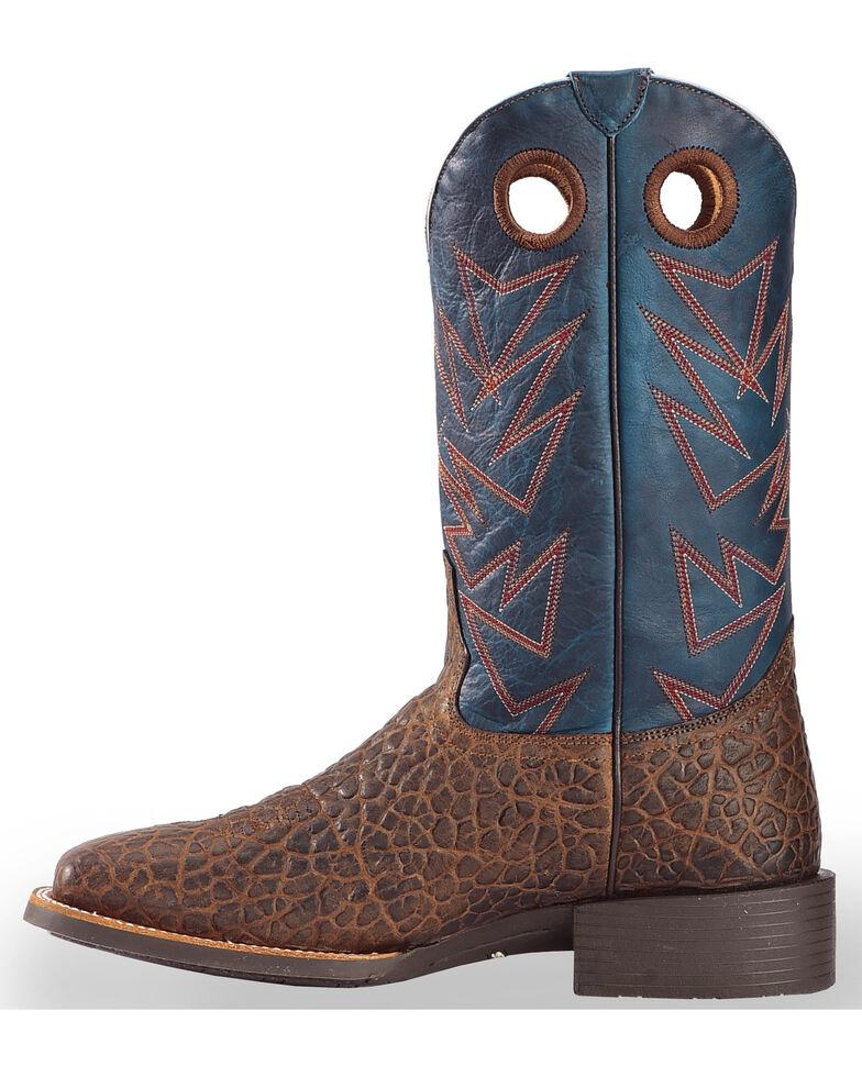 Cody James Men's Bullfrog Printed Western Boots - Square Toe, Brown, hi-res