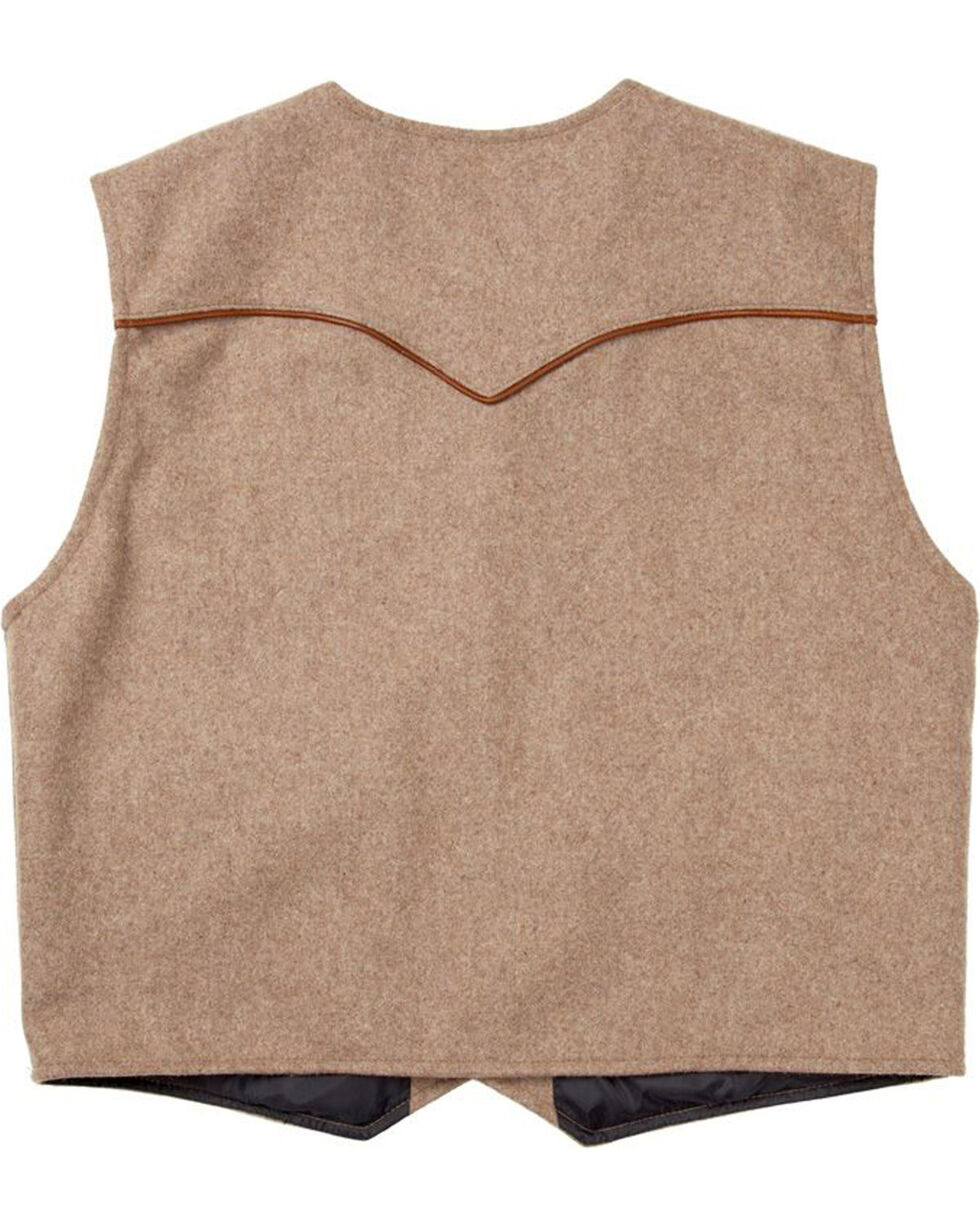 Schaefer Outfitter Men's Taupe Stockman Melton Wool Vest - 2XLT, Taupe, hi-res