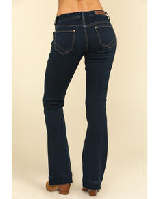 Rock & Roll Cowgirl Women's Dark Vintage Trousers, Blue, hi-res