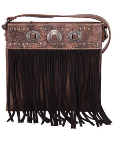 Montana West Women's Fringe Crossbody Bag, Brown, hi-res