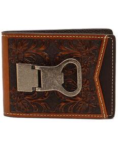 Nocona Men's Embossed Money Clip Wallet, Brown, hi-res