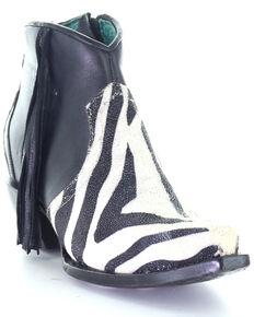 Corral Women's Exotic Stingray Fashion Booties - Snip Toe, Black, hi-res